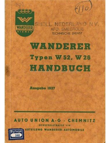 1937 WANDERER OWNERS MANUAL GERMAN