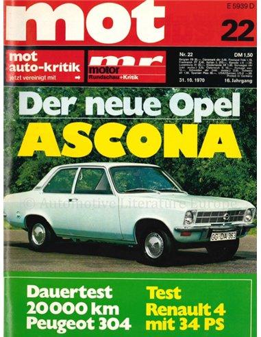 1970 MOT MAGAZINE 22 GERMAN