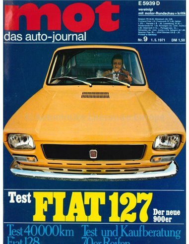 1971 MOT MAGAZINE 9 GERMAN
