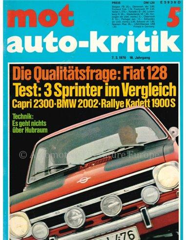 1970 MOT MAGAZINE 5 GERMAN
