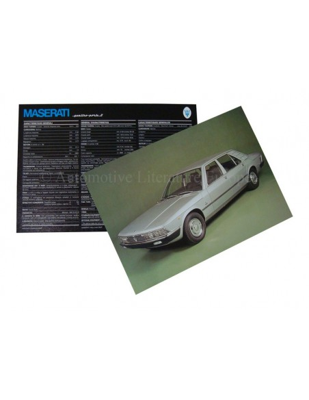 1974 MASERATI QUATTROPORTE II BROCHURE 'SCHAARS'