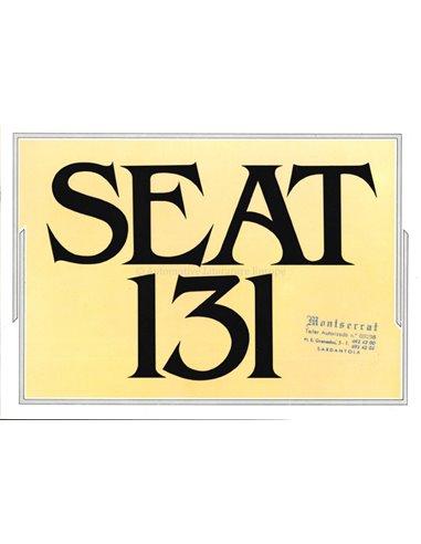 1980 SEAT 131 BROCHURE SPANISH