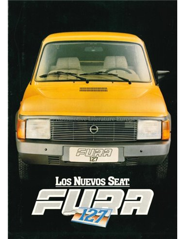 1981 SEAT FURA 127 BROCHURE SPANISH