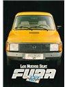 1981 SEAT FURA 127 BROCHURE SPAANS