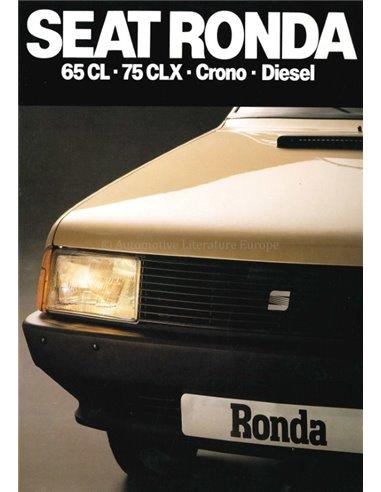 1982 SEAT RONDA BROCHURE SPANISH