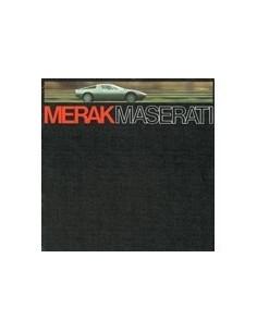 1974 MASERATI MERAK BROCHURE GERMAN