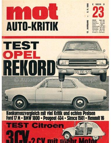 1966 MOT MAGAZINE 23 GERMAN