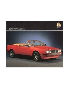 1985 MASERATI SPYDER BROCHURE ENGLISH