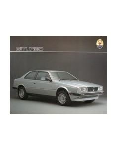 1986 MASERATI BITURBO LEAFLET ENGELS