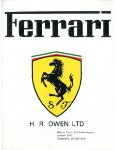 1975 FERRARI HR OWEN BROCHURE ENGLISH