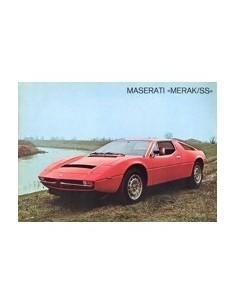 1978 MASERATI MERAK SS LEAFLET
