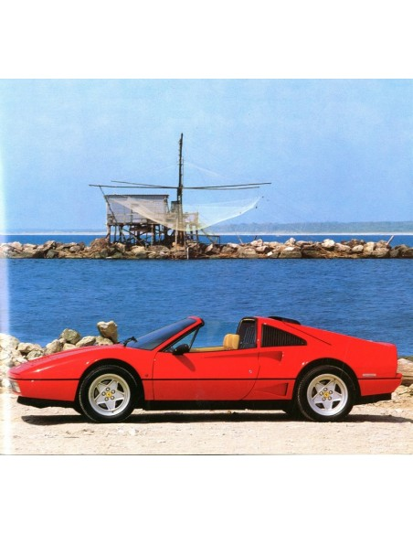 1986 FERRARI TURBO BROCHURE 443/86