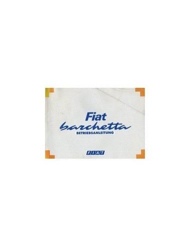 1996 FIAT BARCHETTA INSTRUCTIEBOEKJE DUITS