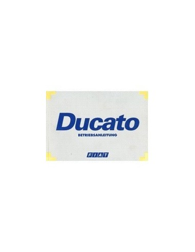 1999 FIAT DUCATO INSTRUCTIEBOEKJE DUITS
