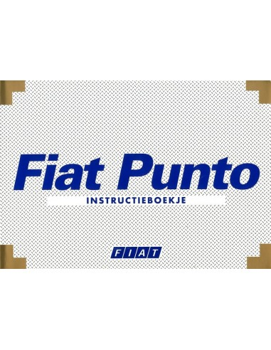 1999 FIAT PUNTO INSTRUCTIEBOEKJE NEDERLANDS