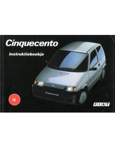 1995 FIAT CINQUECENTO INSTRUCTIEBOEKJE NEDERLANDS