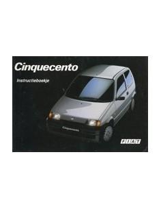 1992 FIAT CINQUECENTO INSTRUCTIEBOEKJE NEDERLANDS