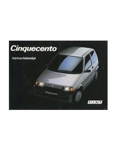 1992 FIAT CINQUECENTO INSTRUCTIEBOEKJE NEDERLANDS