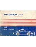 1979 FIAT SPIDER 2000 USA INSTRUCTIEBOEKJE ENGELS
