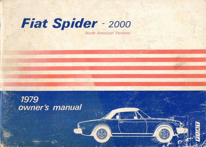 1979 fiat spider 2000 usa owner s manual english fiat 124 spider workshop manual pdf fiat spider 2000 repair manual