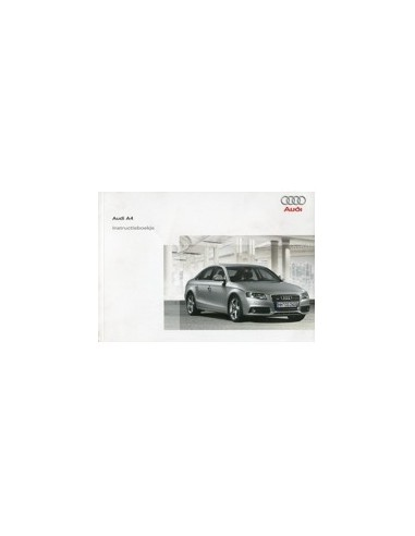 2008 AUDI A4 INSTRUCTIEBOEKJE NEDERLANDS