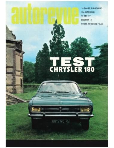 1971 AUTO REVUE MAGAZINE 10 DUTCH