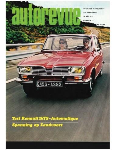 1971 AUTO REVUE MAGAZINE 11 DUTCH