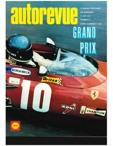 1971 AUTO REVUE MAGAZINE 12 DUTCH