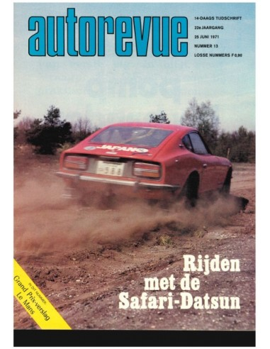 1971 AUTO REVUE MAGAZINE 13 DUTCH