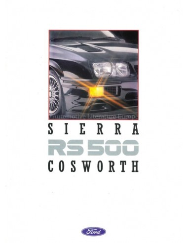 1987 FORD SIERRA RS 500 COSWORTH BROCHURE ENGLISH