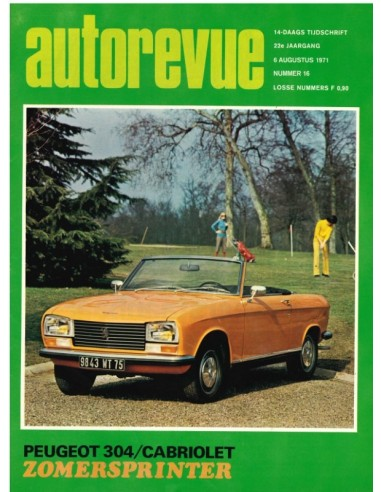1971 AUTO REVUE MAGAZINE 16 DUTCH