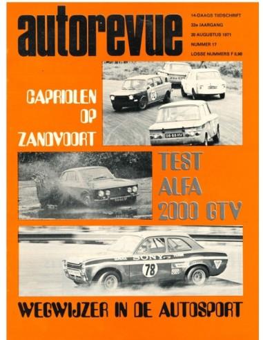 1971 AUTO REVUE MAGAZINE 17 DUTCH