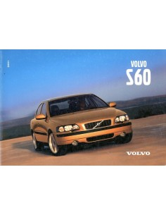 2001 VOLVO S60 OWNERS MANUAL HANDBOOK DUTCH
