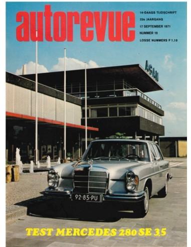 1971 AUTO REVUE MAGAZINE 19 DUTCH