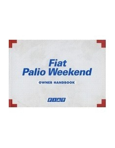 1999 FIAT PALIO WEEKEND INSTRUCTIEBOEKJE ENGELS