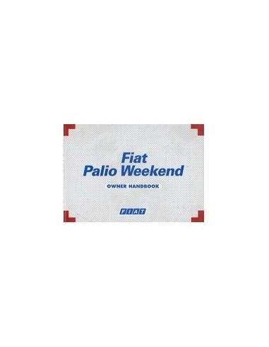 1999 FIAT PALIO WEEKEND INSTRUCTIEBOEKJE ENGELS
