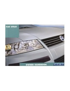 2001 FIAT STILO OWNERS MANUAL HANDBOOK ENGLISH