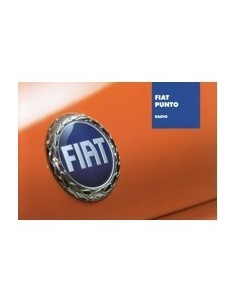 2003 FIAT PUNTO AUTORADIO OWNERS MANUAL HANDBOOK DUTCH