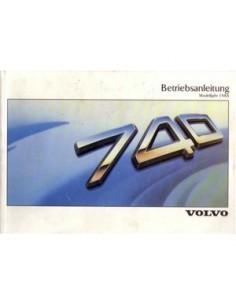 1988 VOLVO 740 OWNERS MANUAL HANDBOOK GERMAN