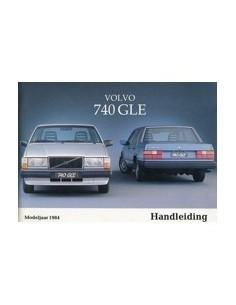1984 VOLVO 740 GLE OWNERS MANUAL HANDBOOK DUTCH