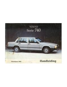 1985 VOLVO 740 OWNERS MANUAL HANDBOOK DUTCH
