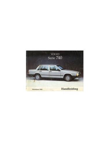 1985 VOLVO 740 INSTRUCTIEBOEKJE NEDERLANDS