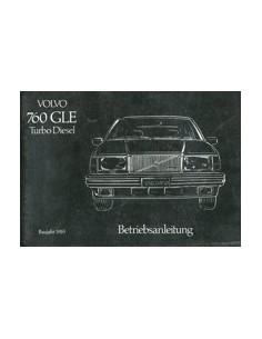 1983 VOLVO 760 GLE TURBO DIESEL OWNERS MANUAL HANDBOOK GERMAN