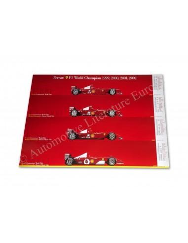 2002 FERRARI F1 WORLD CHAMPIONS SCHUMACHER DEALER POSTER 1874/02