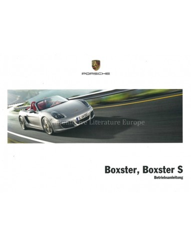 2013 PORSCHE BOXSTER S OWNERS MANUAL GERMAN