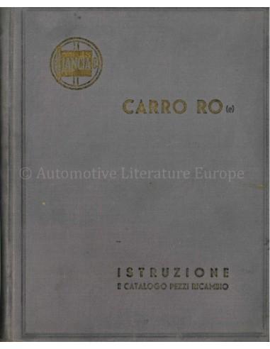1933 LANCIA CARRO RO OWNERS MANUAL...