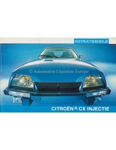 1979 CITROEN CX INJECTION OWNERS MANUAL DUTCH