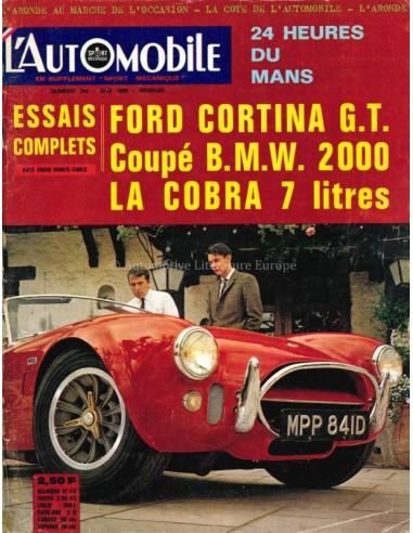 1966 L'AUTOMOBILE MAGAZINE 242 FRENCH
