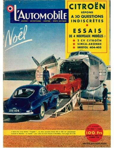 1954 L'AUTOMOBILE MAGAZINE 104 FRENCH