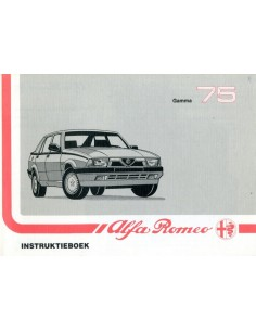 1989 ALFA ROMEO 75 INSTRUCTIEBOEKJE NEDERLANDS